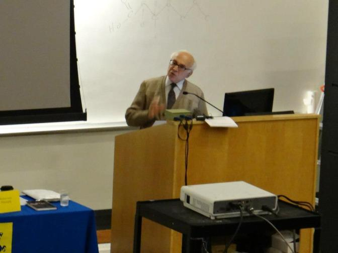 "Robert Audi's talk, ""Governmental Secularity and Religious Citizenship,"" Philosophy Week '13"