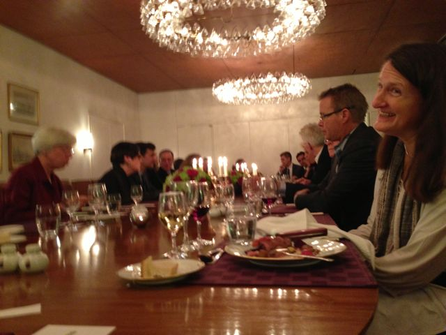 "Dinner at Danish Embassy, ""Kierkegaard Repetitions: An International Conference Celebrating the Bicentenary of Kierkegaard's Birth,"" Johns Hopkins University, Sept. 2013."