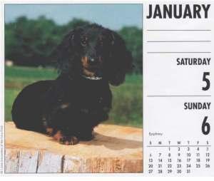Dad's Calendar Page